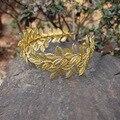 Hoja de olivo de Oro Tiara Nupcial de la Venda de La Vendimia Hecha A Mano de Accesorios Pelo de La Boda Celada