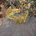 Olive Leaf Gold Bridal Tiara Vintage Headband Handmade Wedding Hair Accessories Headpiece