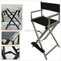 Portable salon director chair artist Aluninum makeup chair foldable hairdressing chair