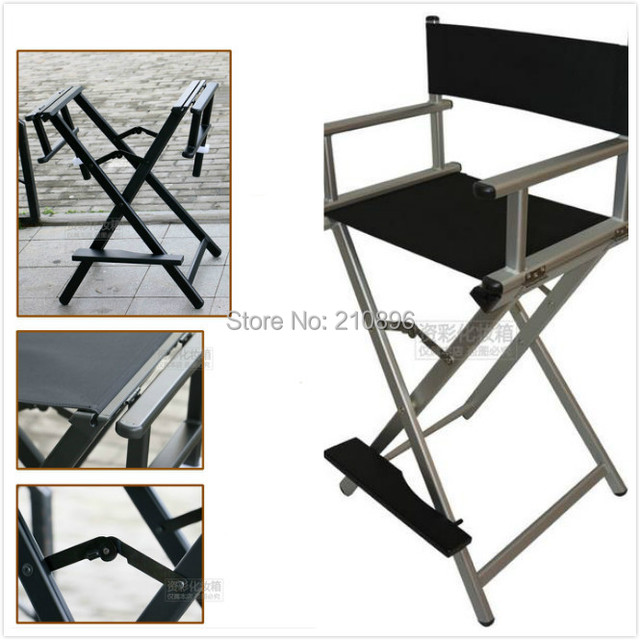 Portable salon director chair artist Aluninum makeup chair foldable hairdressing chair & Portable salon director chair artist Aluninum makeup chair foldable ...