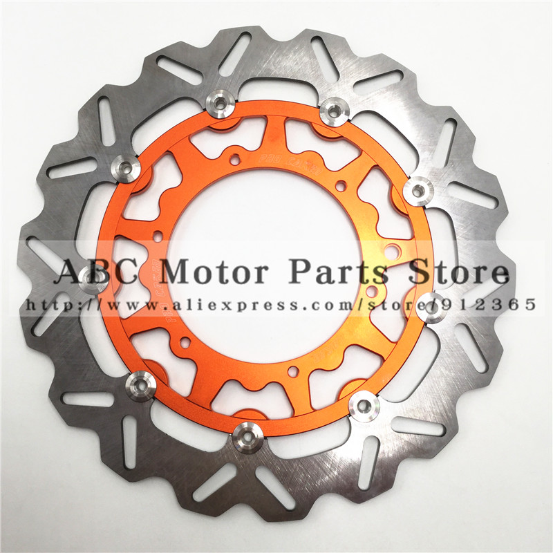 320MM Oversize Front Floating Brake Disc Rotor KTM EXC GS EXCF SX SXF SXS XC XCR XCW XCF XCRF MXC MX SMR SIX DAYS Supermoto orange 120l chain front rear sprockets set for ktm exc excf sx sxf sxs xc xcw xcf xcfw mx mxc lc4 smr six days motocross enduro