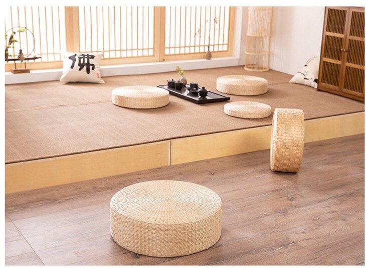 HTB1f80Ge.CF3KVjSZJnq6znHFXa1 Rattan tea ceremony worship Buddha pad meditation thickening meditation pupa meditation sitting futon cushion tatami yoga mat