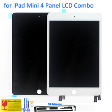 ALANGDUO for Apple iPad Mini 4 A1538 A1550 Apple Tablet LCD Display with Touch Screen Digitizer Front Panel Replacement Sensor