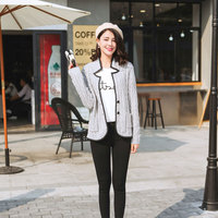 100 Real Cashmere Sweater Coats Sheep Leather Surround Patchwork Autumn Winter Knitting Single Breasted Long Sleeve
