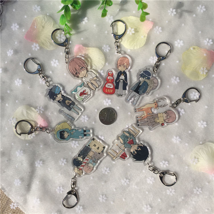 Rare In Market yaoi fan Comics Ten Count Double Side keychains Present llavero Keyring Portachiavi Gift Collection Funny BL