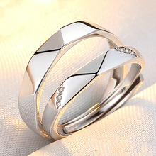 2017 Promotion Real Trendy 925 Sterling Couple Rings A Pair Of And In Japan Korea Student Life Simple Personality