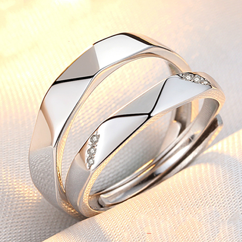 2018 Engagement None Trendy Lovers New Real Fashion Lover S925 Couple Rings And Japanese Korean Students