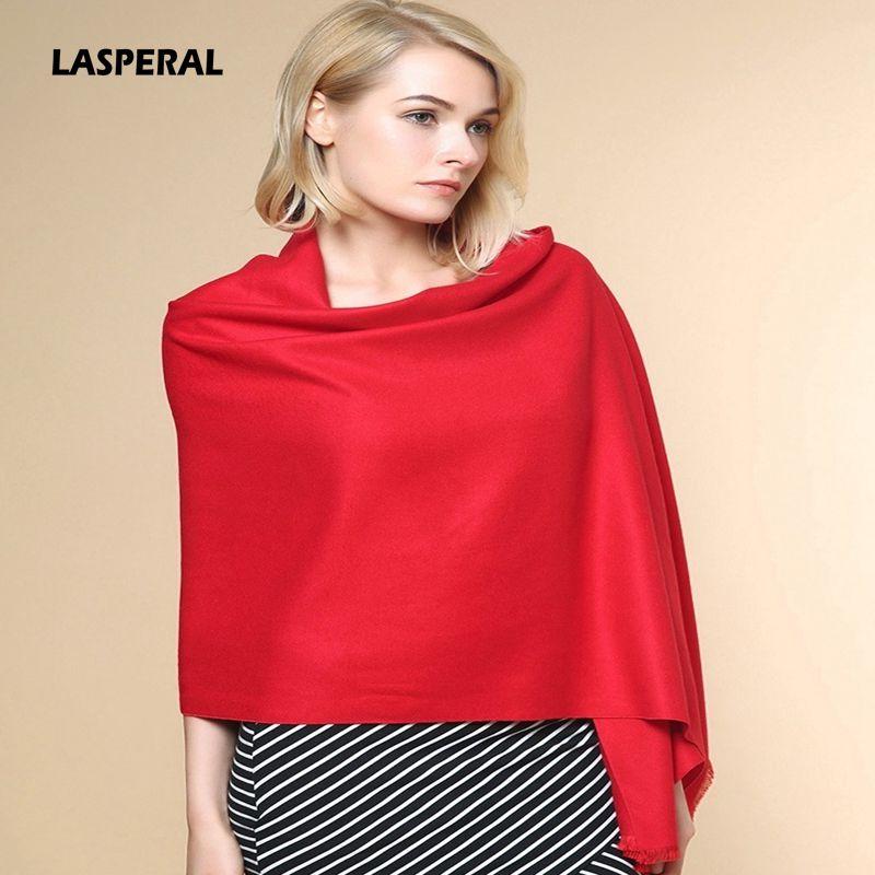 LASPERAL New Arrival Women Winter Autumn Scarves Imitation Cashmere Shawl Scarves Western Style Fashion Tassel Scarves