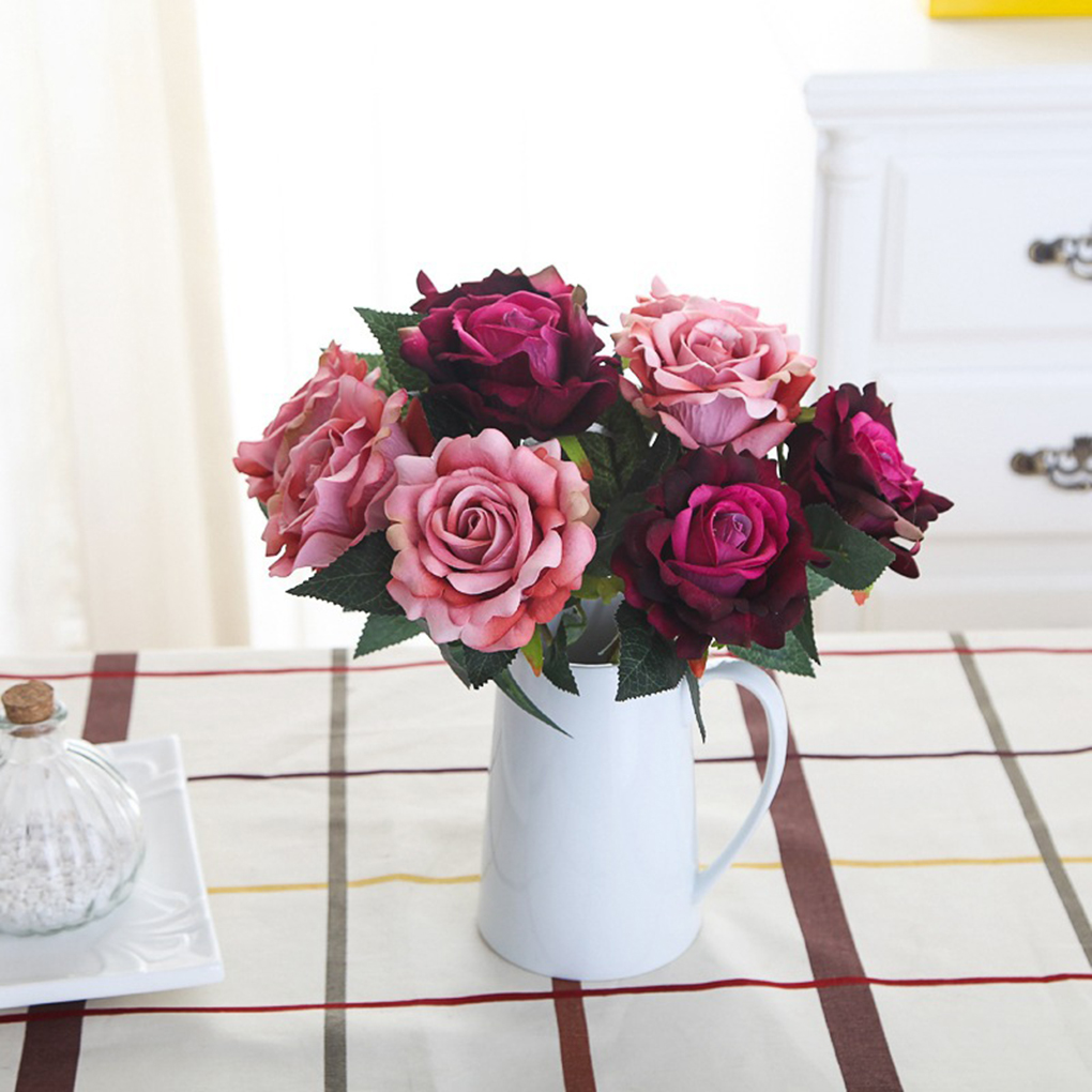 Online Get Cheap Silk Roses Arrangements Aliexpresscom Alibaba