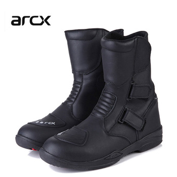 arcx Men's motorcycle waterproof boots motorbike protection gear shift racing motocross boots cruiser long-distance travel shoes