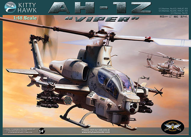 KITTY HAWK 1/48 AH-1Z VIPER Helicopter #KH80125