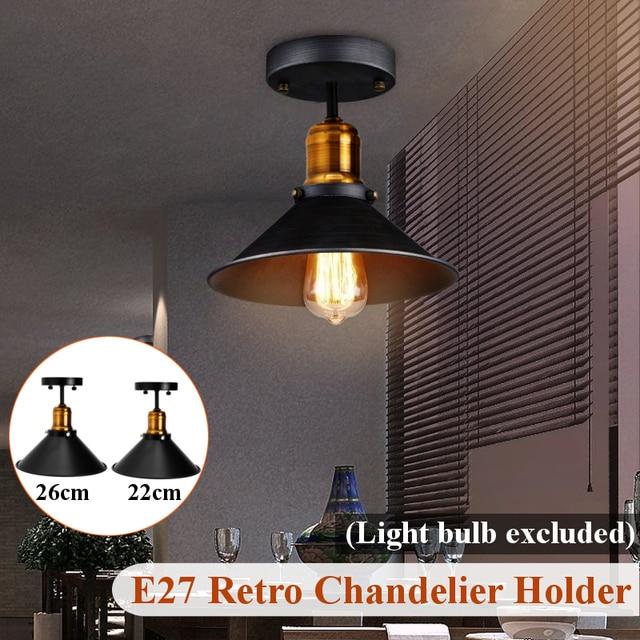 E27 Plafond Lichten Loft Vintage Ronde Retro Plafondlamp Industriële Ontwerp Edison Lamp Thuis Bar Cafe Winkel Verlichting Armatuur