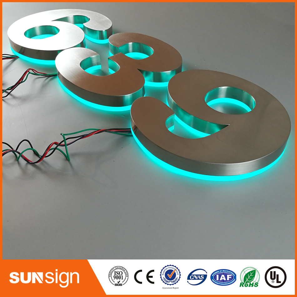 LED подсветкой из нержавеющей стали номер знаки ...