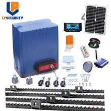 800kg heavy duty elektryczne silniki przekładniowe automatyczna brama przesuwna opener con panel słoneczny + kontroler + stojaki