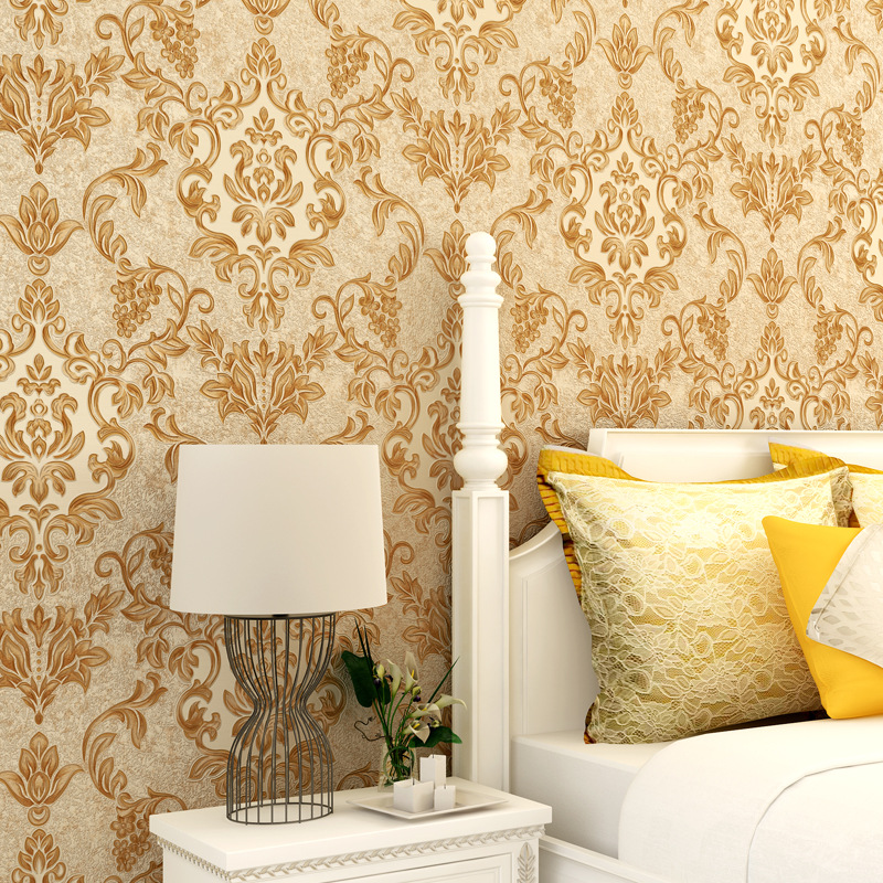 Beibehang Wallpapers 3D Deep Embossed Pvc Wallpaper