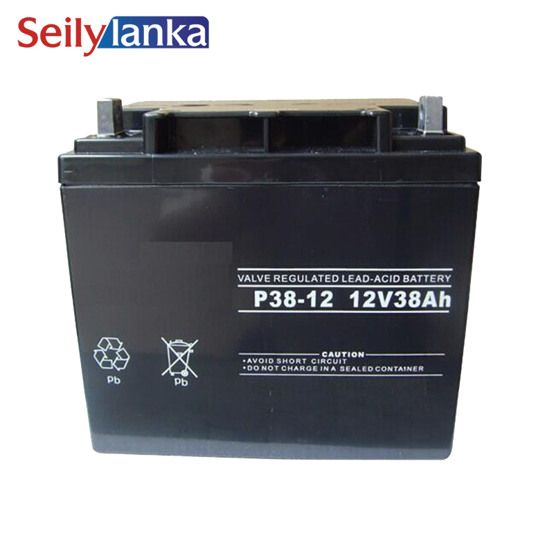 12V 38AH Battery Sealed Storage Batteries Lead Acid Rechargeable Stable performance, good storage Backup Power Supply
