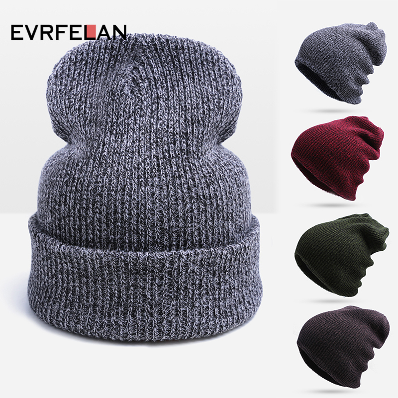Hot Sale Unisex Knitted Hat Warm Cap For Men And Women Skullies Beanies  Woman Warm Cap Man Beanie Touca Hat Drop Shipping 05bd76976