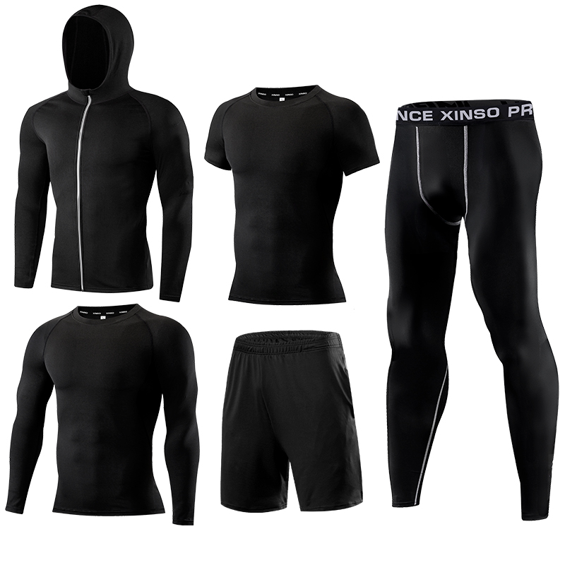 Gym Mens Running Fitness Sportswear Athletic Physical Training Clothes Suits Workout Jogging Sports Clothing Tracksuit Dry Fit-in Running Sets from Sports & Entertainment on AliExpress