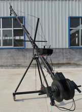 jib crane 6m 2-axis Octagon   pan tilt head portable camera crane dslr  with dolly and monitor Factory supply