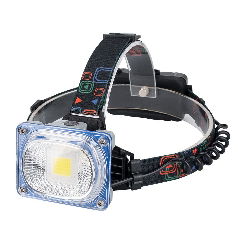 COB LED Headlamp USB Rechargeable Headlight 3 Modes Head Torch Flashlight For Camping Use 2*18650 Batteries super bright led headlamp water resistant head torch built in 3x18650 rechargeable batteries 2 light modes headlight for outdoor