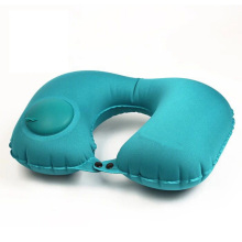 Multi-color compression inflatable U-shaped pillow Travel car aircraft artifact portable blowing neck