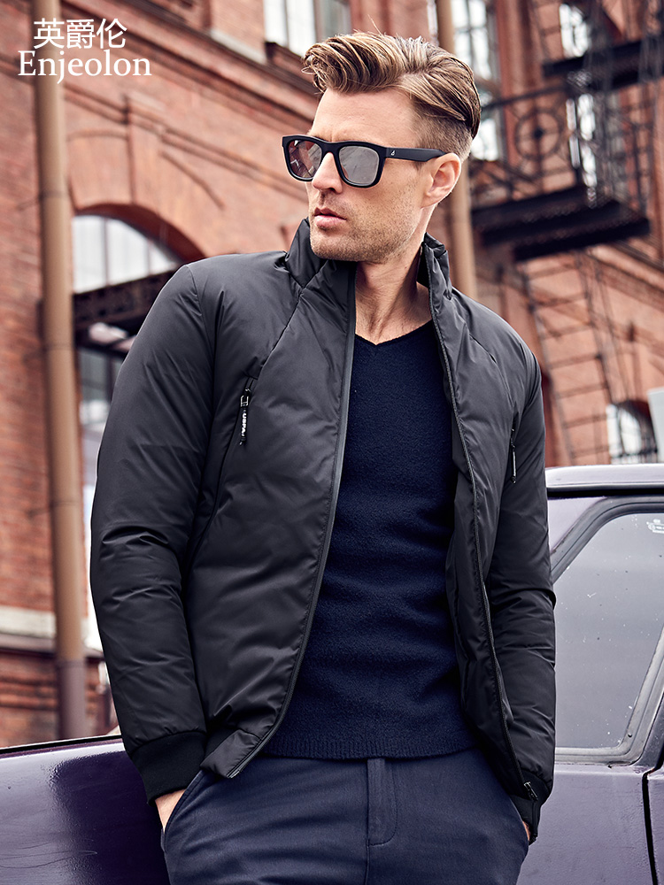 Enjeolon Model Cotton Padded Jacket Coat Males Parka Caot Male Inexperienced Black Stable Coat 3Xl Thick Quilted Trend Coat Males Mf0011