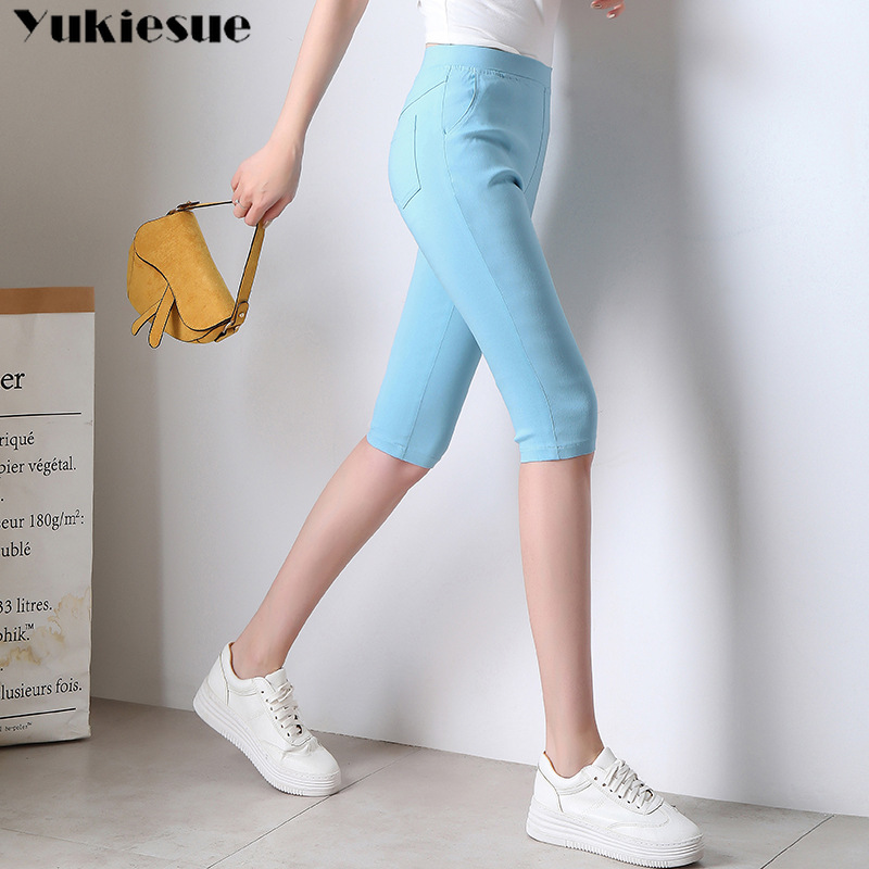 streetwear summer women's   pants     capris   with high waist skinny slim pencil   pants   for women trousers woman   pants   female Plus size