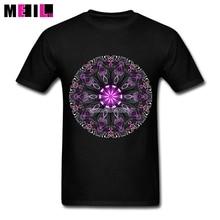 Custom Made MANDALA DESIGN Plus Size T-shirt Male Geometric Flower Art Short Sleeve tee shirt