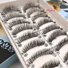 Ten Pairs Of Natural False Eyelashes Plastic Cotton Stalk High-end Cosmetic Tools Eyelash Wholesale