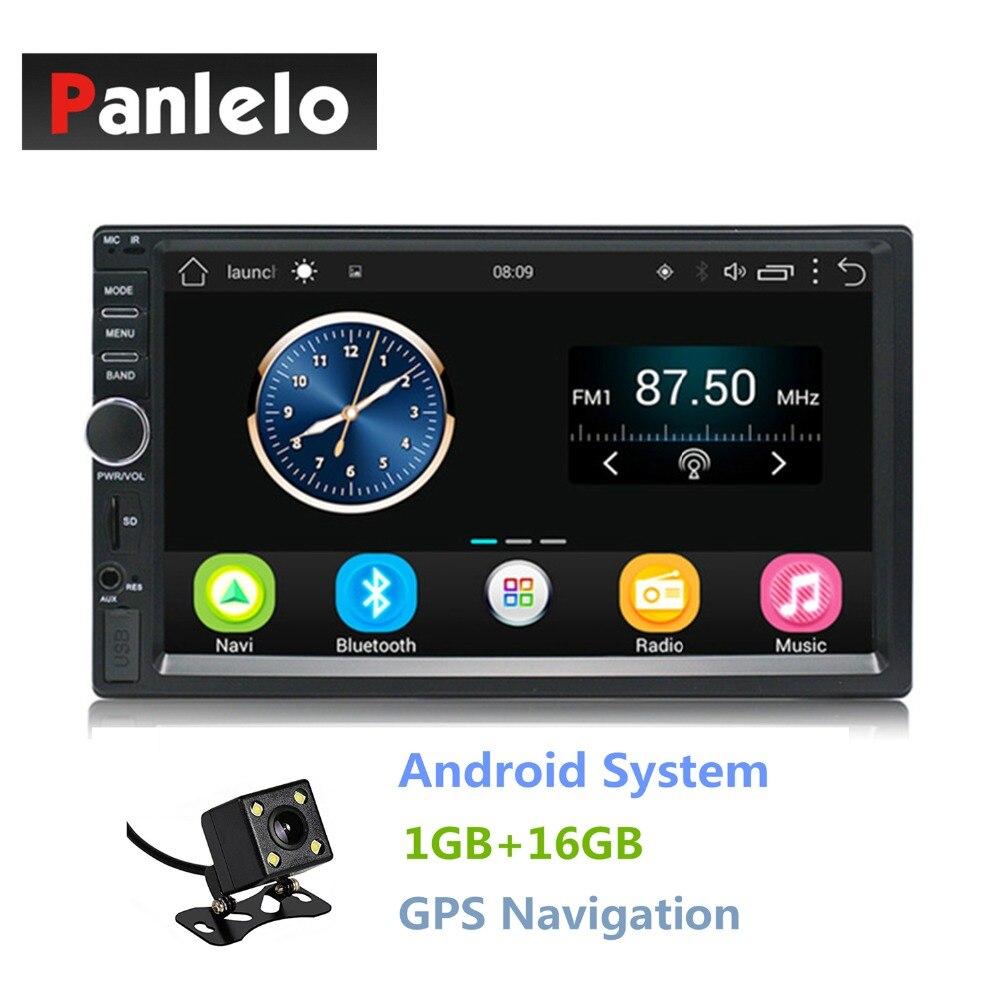Double Din Android 6.0 Quad Core 1 gb + 16 gb Voiture Stéréo 7 pouce 1024x600 Écran Tactile autoradio Navigation GPS Bluetooth Wifi AM/FM
