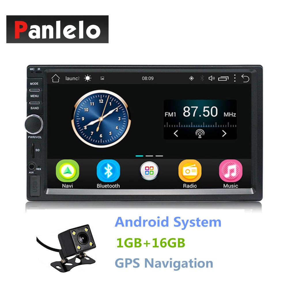 Double Din Android 6.0 Quad Core 1GB+16GB Car Stereo 7 inch 1024x600 Touch Screen Head Unit GPS Navigation Bluetooth Wifi AM/FM ct0012 android 6 0 car stereo 2 din quad core head unit 7 2gb 16gb car radio touch screen bluetooth wifi fm car gps navigation