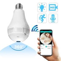 Wireless Light Bulb Video Color Baby Monitor High Resolution Nanny Security 360 VR Camera Night Vision Temperature Monitoring