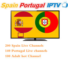 12 months Spain Portugal IPTV subscription 400+HD LIVETV for Spain Portuga IPTV include eleven sports for enigma2 M3U smart tv(China)