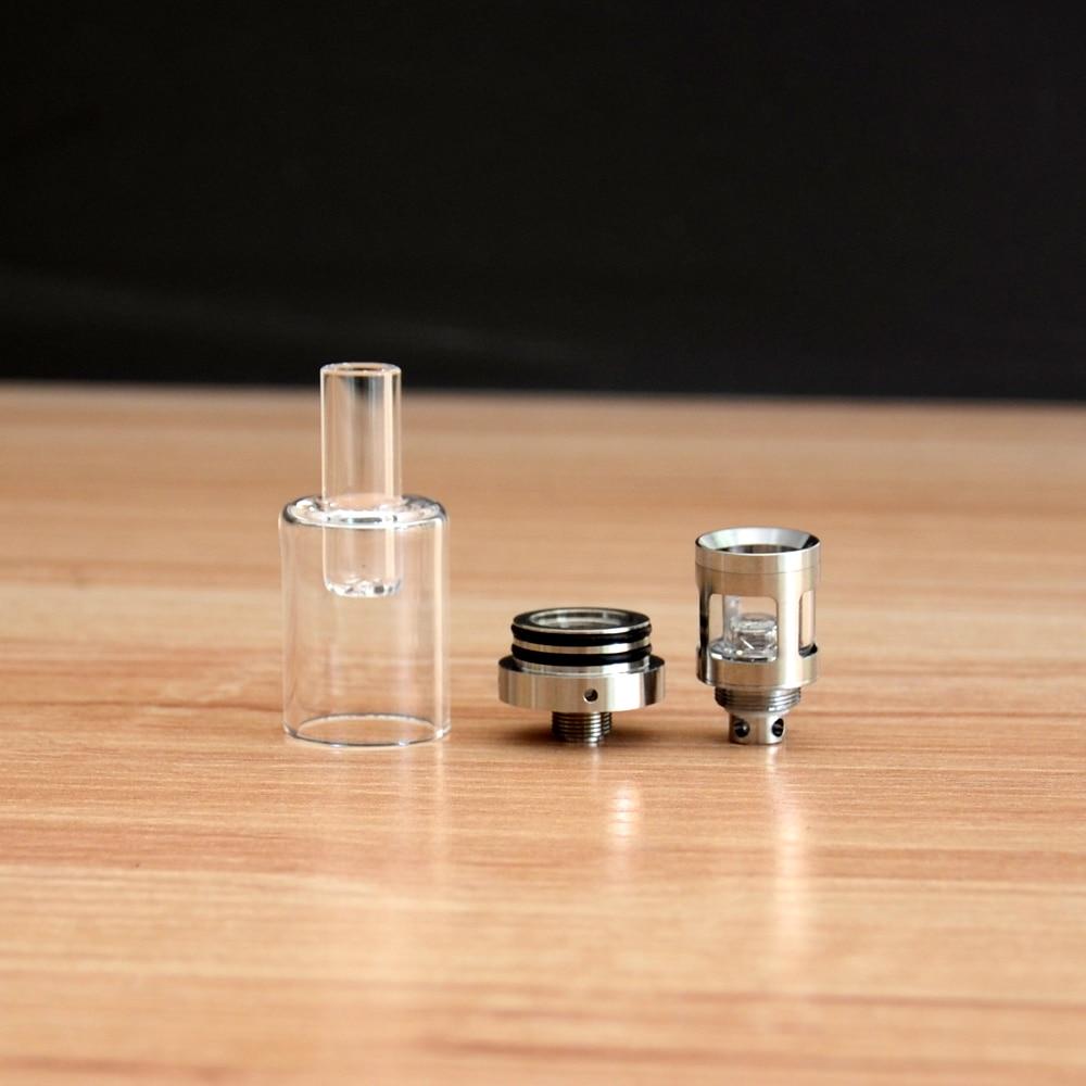 Leiqidudu Newest wax glass atomizer vaporizor pen atomizer fit ego 510 thread battery box mod e cigarette High temperature