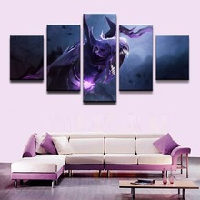 5 Pieces Game Poster Bane DOTA 2 Wall Art Painting Canvas Printed Pictures Home Decor For Living Room Modular Modern Artwork 5 pieces minecraft painting wall art modular pictures canvas printed modern artwork pictures wall decor game poster home decor