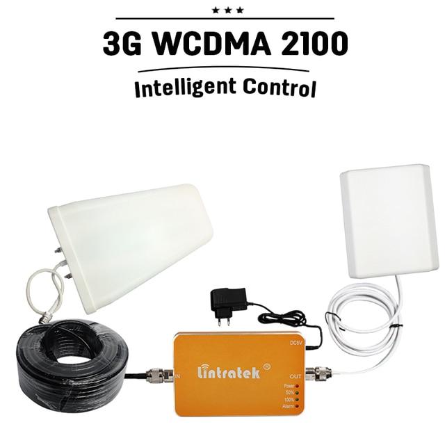 Conjunto completo 3G Velocidade WCDMA 2100 mhz Celular Repetidor de Sinal 3G UMTS 2100 mhz Amplificador de Rede De Telefonia móvel celular Impulsionador Repetidor
