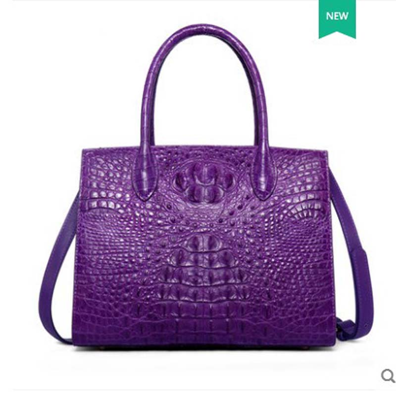 yuanyu 2018 new crocodile leather handbag is a bag of leather handbag with large size and shoulder women handbag yuanyu 2018 new hot free shipping crocodile female bag shoulder bag leather handbag crocodile leather women bag ladies handbags