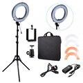 RL-12 180 unids Lámpara 14 ''LED Cámara de Vídeo Luz Del Anillo 5500 K de Vídeo Al Aire Libre Fotografía Kit de Iluminación con 2 M Trípode