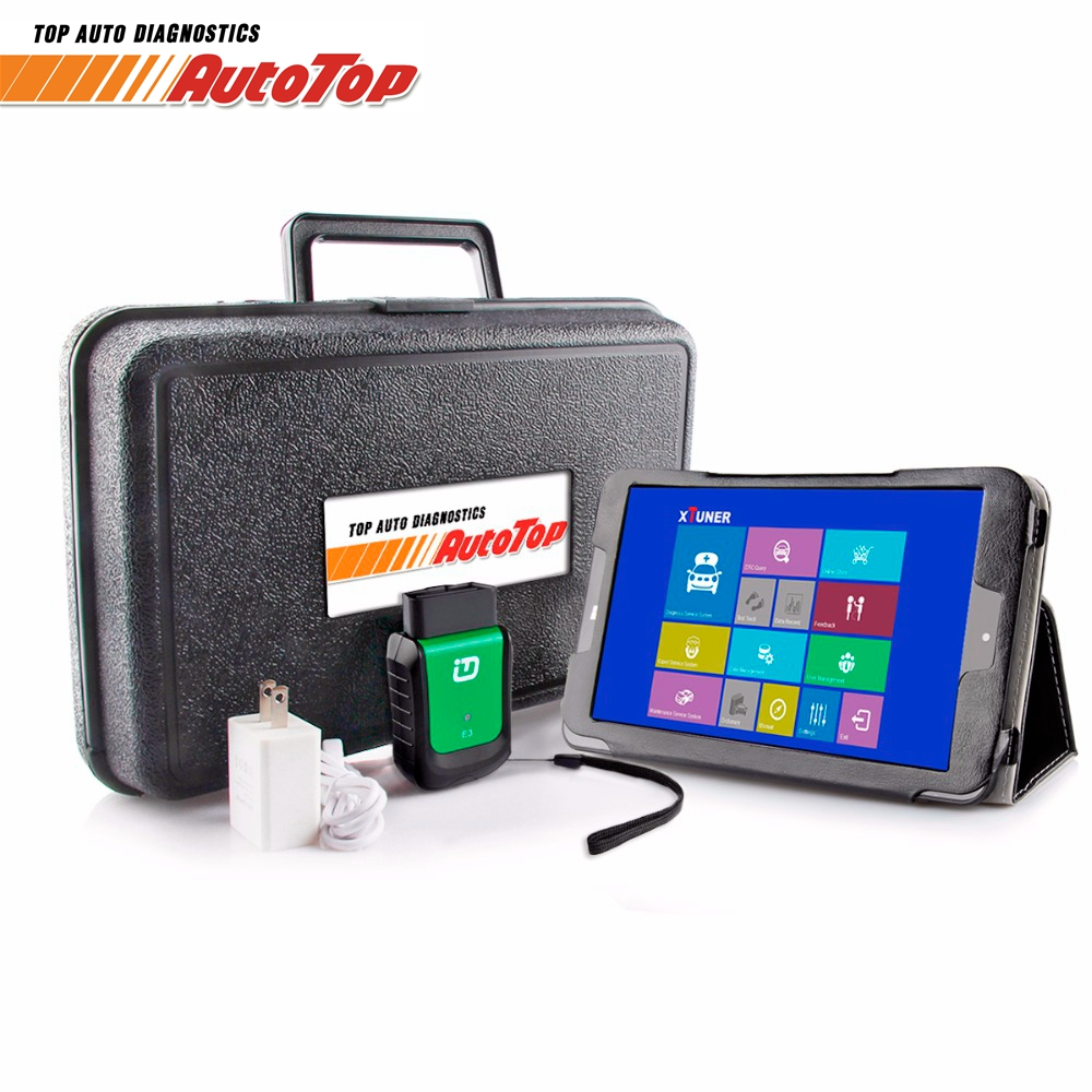 2018 OBD 2 XTUNER E3 V9.5 Tablet Wifi OBD2 Voiture Diagnostic Auto Scanner + 8 Win10 Système Automobile Scanner ODB 2 Autoscanner