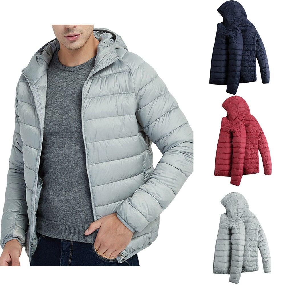 HTB1f83.XyHrK1Rjy0Flq6AsaFXar Jacket Men Autumn Winter Style Light Weight Overcoat Outerwear Coats Cotton Warm Hooded Men's Jacket Coat chaqueta hombre S-2XL