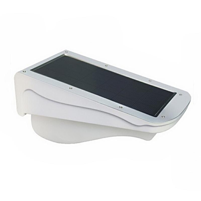 3W Waterproof 38-LEDs Solar Powered PIR Motion Sensor LED Stairway Outdoor Garden Path Wall Light Lamp (White) yj 2338w 3w 350lm 6000k 60 led white light solar powered spotlight white 3 7v