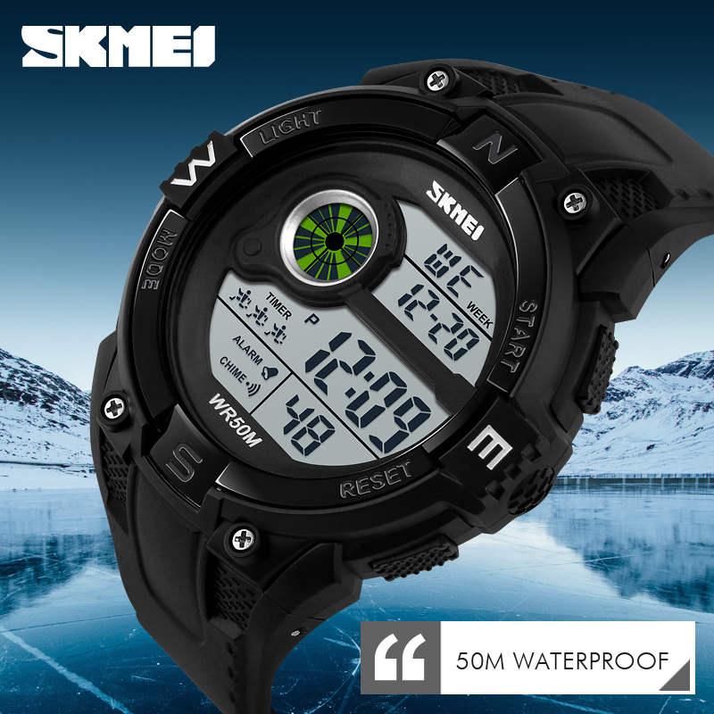 50M Waterproof Swimming Watch Sports Men's Watches Top Luxury Brand SKMEI Men Wristwatch Electronic Digital Big Male Clock Man G