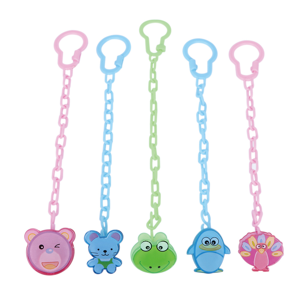 Cartoon Animals Shape Pacifier Dummy Clip Nipple Safe PP Strap Pacifier Frog Bear Clip Chain Holders Baby Feeding Accessories