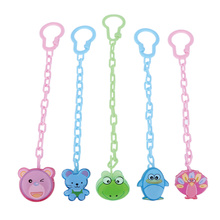 Cartoon Animals Shape Pacifier Dummy Clip Nipple Safe PP Strap Frog Bear Chain Holders Baby Feeding Accessories