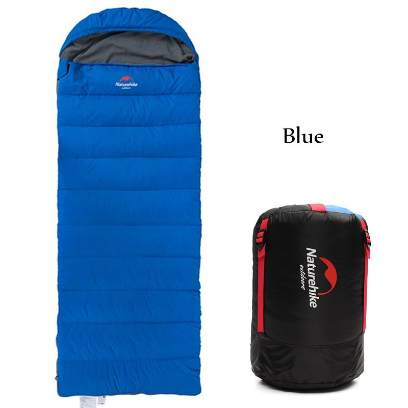 Naturehike Outdoor Adult Envelope Type Sleeping Bag Duck Down Cotton Waterproof Sleeping Bags travel camping equipment