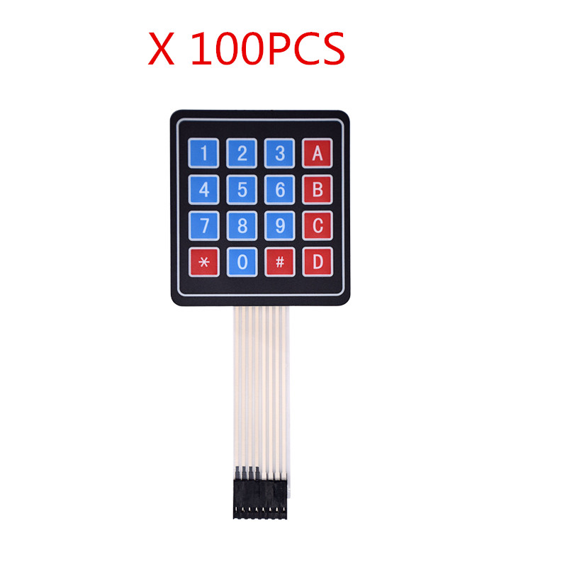 100PCS New 4*4 Matrix Array/Matrix Keyboard 16 Key Membrane Switch Keypad
