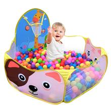 Manege for babyen Barn Baby Gutter Jenter Ocean Ball Pit Pool Game Arena Play Telt med Basketball Hoop en lekepenne Utendørs