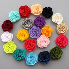 цена на Free shipping, 100 pcs/lot , Felt Rose Flower, Fabric Floral Applique DIY for hair accessories