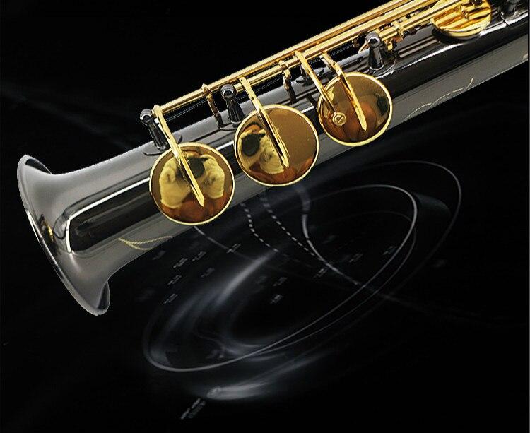 Profesional nuevo SUZUKI LSS-660 B (B) saxofón Soprano de alta calidad instrumento de música latón negro níquel oro saxo perla botón