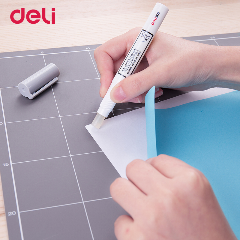 Deli 2018 Wholesale Pen Shape Glue Stick Set With Spare Glue For School Office Supply Strong Adhesives Super Glue DIY Hand Work(China)